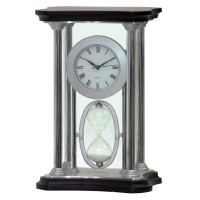 Metal case SAND timer Desk Clock #411-052